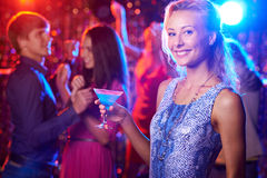 Lady with cocktail Royalty Free Stock Image