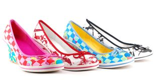Lady colorful shoes Stock Photo