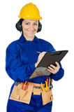 Lady construction worker Stock Photo