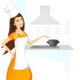 Lady Cook Stock Image