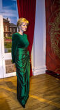 Lady D, Princess Diana, in Madame Tussauds wax museum in London. stock image