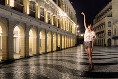Lady dancing Royalty Free Stock Images