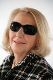 Lady with dark sunglasses. Elegant lady with dark sunglasses Royalty Free Stock Image