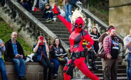 Lady Deadpool from Marvel cosplay Stock Photography