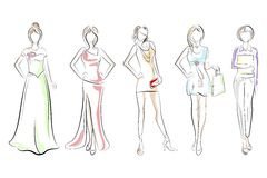Lady in different Dress Stock Image