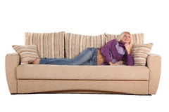 Lady on a divan Stock Image