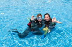 Lady Divers Stock Images