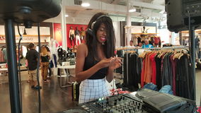 La Trice Perry. DJ La Trice Perry in a clothing store Royalty Free Stock Photo