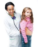 Lady Doctor With little girl Stock Photo