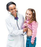 Lady Doctor With little girl Stock Image