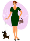 Lady with a dog Stock Image