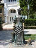 The lady with the dog Yalta royalty free stock image