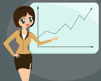 Lady doing a Business Presenta Royalty Free Stock Photo