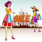 Lady doing Shopping Royalty Free Stock Images