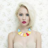 Lady doll. Fashion art photo of beautiful lady doll with blue eyes Stock Images