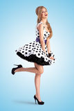 Lady in dots. Royalty Free Stock Image