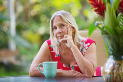 Lady with Doubtful Expression Stock Photography