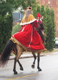 Lady Dressed As Royalty On Horseback Royalty Free Stock Images