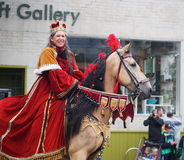 Lady Dressed As Royalty On Horseback Stock Photos
