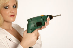 Lady Drill Royalty Free Stock Images
