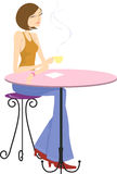 Lady drinking coffee Royalty Free Stock Photo