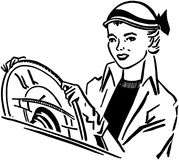 Lady Driver Royalty Free Stock Photography