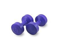 Lady dumbells. Stock Images