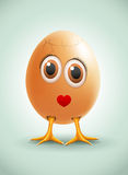 Lady Egg. Vector female egg character Royalty Free Stock Photography