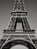 Lady Eiffel In Black & White Royalty Free Stock Images