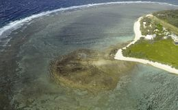 Lady Elliot Island aerial Royalty Free Stock Photos