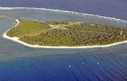 Lady Elliot Island aerial Royalty Free Stock Photography