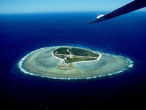 Lady Elliot Island from the air. Photo of Lady Elliot Island in Queenslan, Australia from an airplane Royalty Free Stock Image