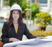 Lady engineer Stock Photos