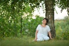 Lady enjoying summer Royalty Free Stock Photo