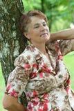 Lady enjoying summer Stock Images