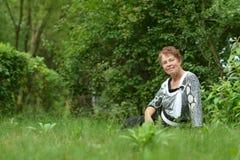 Lady enjoying summer Royalty Free Stock Image
