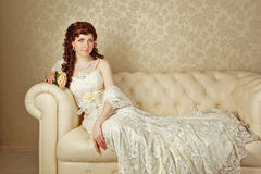 Lady in evening dress Stock Photo