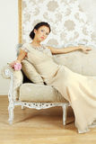 Lady in evening gown Royalty Free Stock Photo