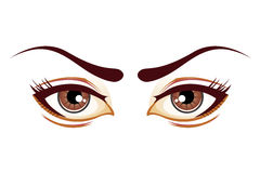 Lady eyes Royalty Free Stock Photos