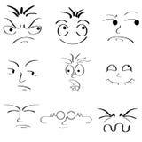 Lady för ansiktsbehandling Expressions Arkivfoton