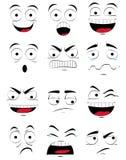 Lady för ansiktsbehandling Expressions Arkivfoto
