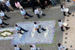 lady för desterro 72 vår procession Fotografering för Bildbyråer