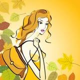 Lady Fall. Stock Image