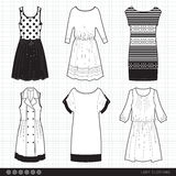 Lady fashionable clothes royalty free illustration