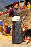 Lady at festival in Ladakh, India Stock Photo