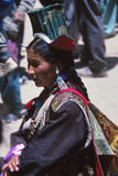 Lady at festival in Ladakh, India Stock Images