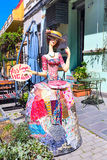 Lady figurine at street restaurant in the old town. Tbilisi, Geogria Stock Image