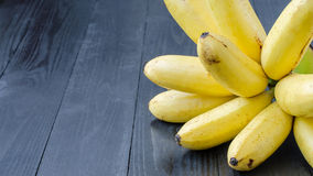Lady Finger banana on wooden Stock Photography