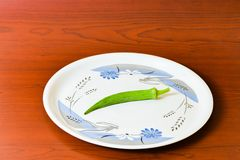 Lady finger okra in white plate closeup on isolated background. Lady finger okra vegetables in plate white food green fresh organic closeup on isolated stock photos