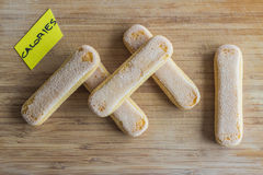 Lady fingers, calories concept Stock Photography